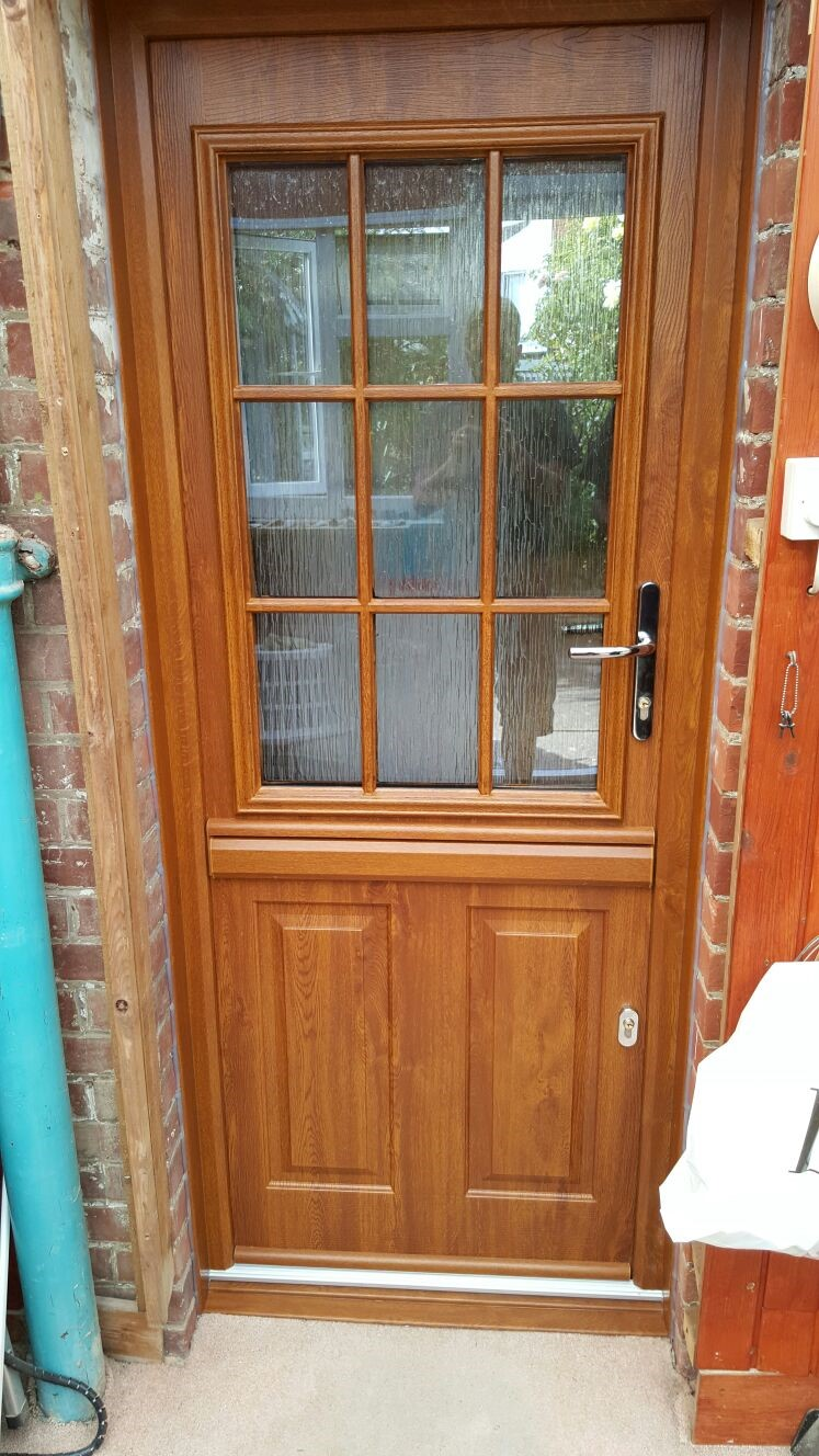 golden oak stable door solidor